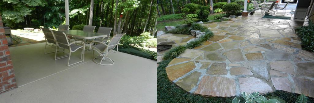 beautiful backyard concrete patio