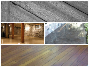 Inspired by nature: slate and wood
