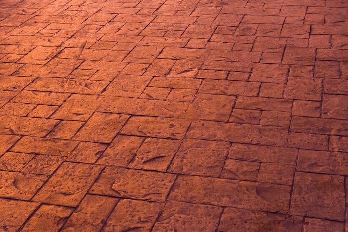 Brick concrete stamping pattern