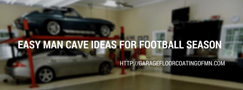 Easy Man Cave Ideas for Football Season - Garage Floor ...
